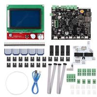 3D Printer  Smoothieboard 5X V1.1+12864 LCD Display Kit With Adapter  LCD Display 3D Printer|3D Printers| |  -