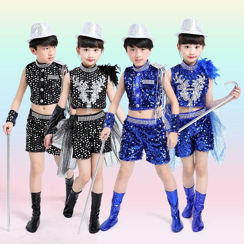 698d604eb817 Childrens Dance Performance dress Girls Jazz Modern Dancing Costumes dress  Kids hip hop Tap Sequined dance dress