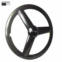 Fixed Gear Ruote Carbonio Carbon Trispoke Wheel Ruedas Carbono Carretera 700c Carbon 3 Spoke Wheel