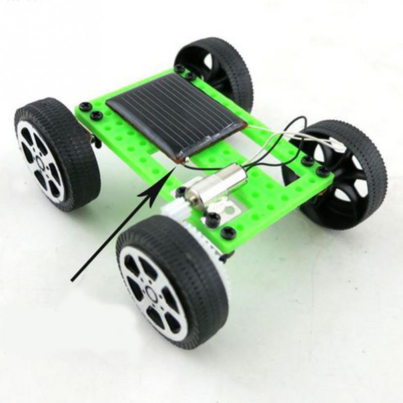 1 PC New Cute Solar Power Robot Toy Solar Power DIY Mini Toy Car Moving Racer Teaching Gadget For Boys Girls Toys Childs Gift