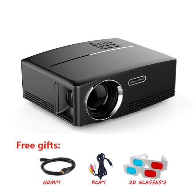 1768144f2c3 HIMI Mini Portátil Projetor 1800 Lumen Full HD LED De Vídeo Home Cinema  Suporte VGA TV