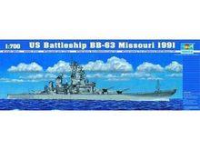 Трубач 1/700 масштаб 05705 USS Missouri BB-63 1991