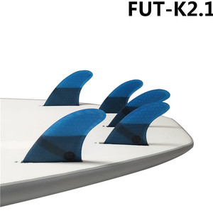 Image 2 - Surf Future Fin K2.1 Surfboard Fins Blue color Fiberglass Honeycomb Tri Quad Fins Quilhas Thruster 5 fin Set