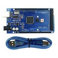 Hot Mega 2560 R3 Mega2560 REV3 ATmega2560 16AU Board USB Cable Compatible For Arduino MCU Free