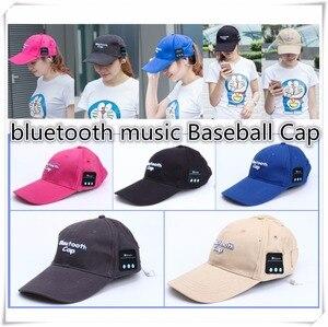 Image 1 - portable bluetooth earphone Headphone Headset Speaker Cotton Wireless Baseball Hat Music Cap For Women Men Casual Caps 5 Colors