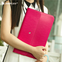Jisoncase Laptop Sleeve Case for Macbook Air 13 12 11 Case Genuine Leather Laptop Bag Unisex Pouch for Macbook Pro 13 inch Cover