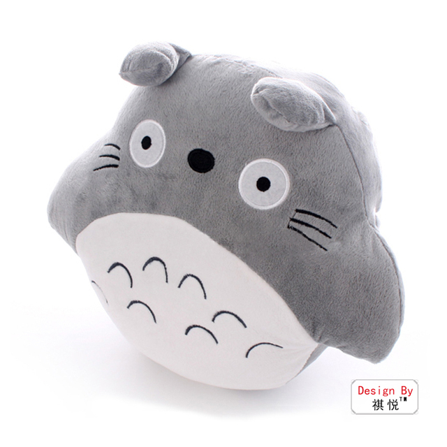 Free Shipping Totoro doll cloth doll cartoon lunch pillow plush toy sierran hand warmer cushion pillow