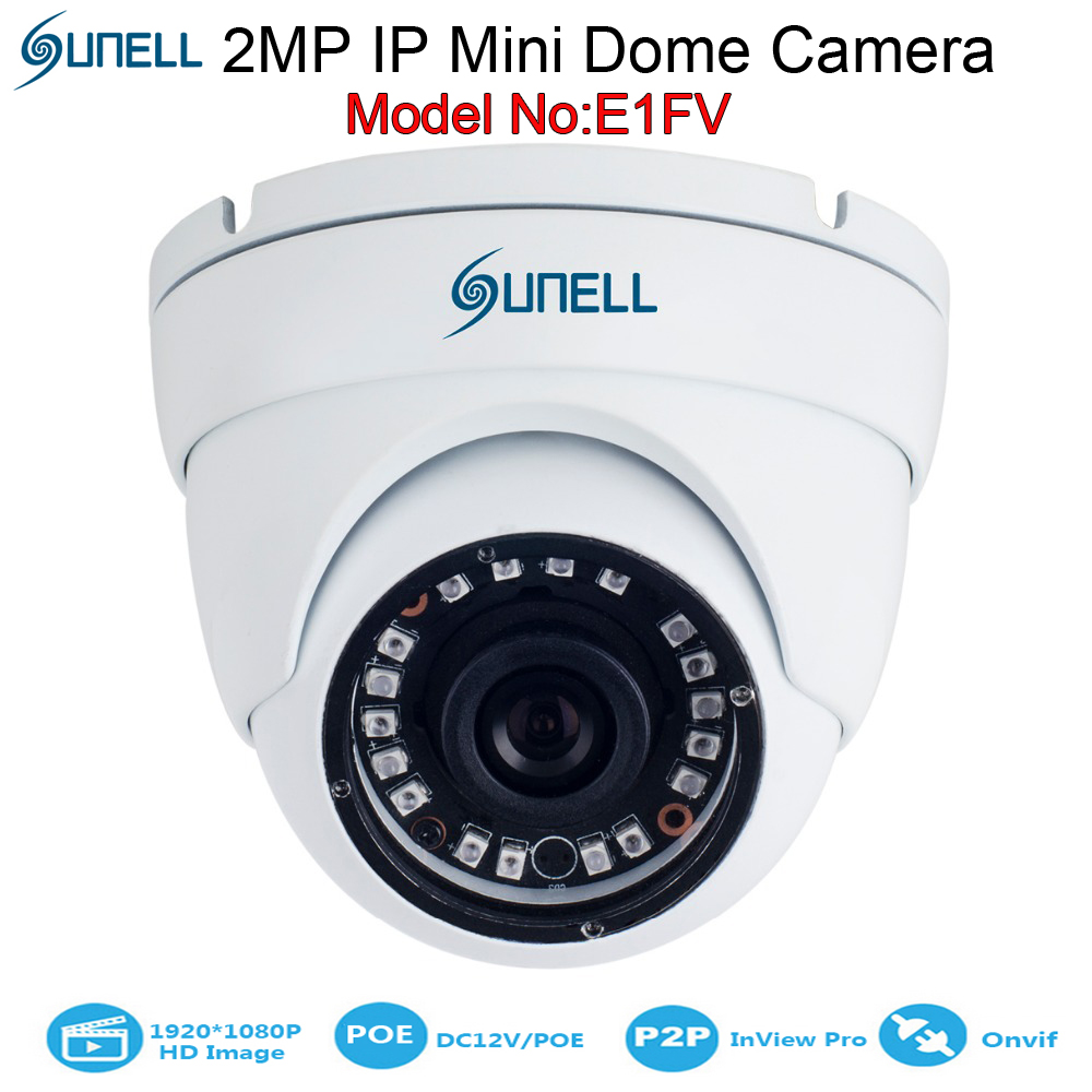 2mp mini ip dome security sunell cctv ip eyeball camera 1080p megapixel hd vandal proof network. Black Bedroom Furniture Sets. Home Design Ideas