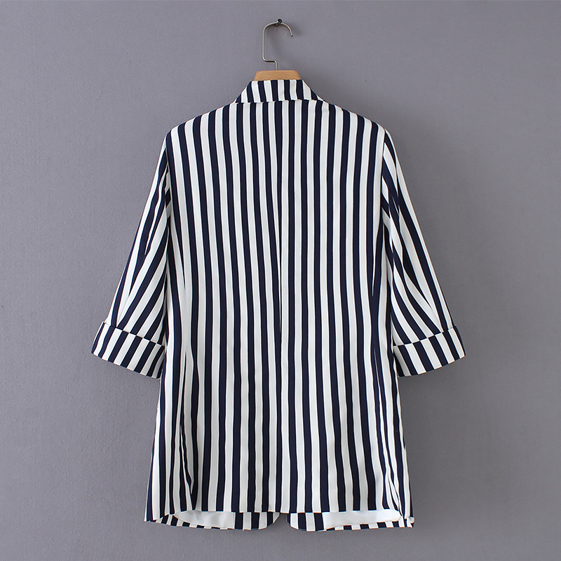 Mr.Nut Korean Fashion Striped Casual Women's Suit Jacket  Office Lady  Women Blazers And Jackets