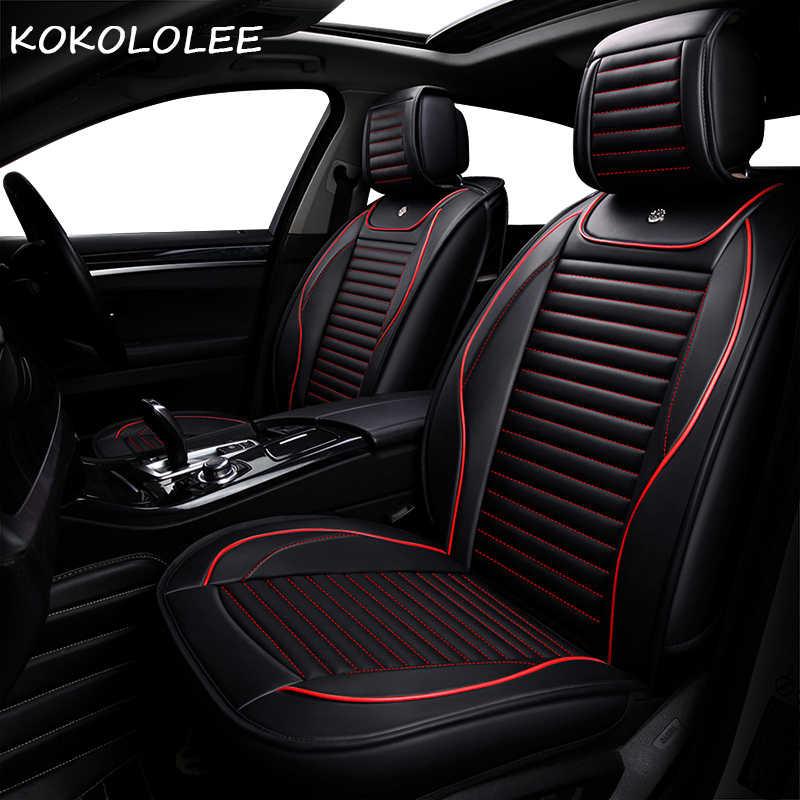 KOKOLOLEE pu pokrycie siedzenia samochodu dla hyundai solaris accent creta elantra/elantra2017 getz i20 i30 i40 ix25 ix35 akcesoria samochodowe