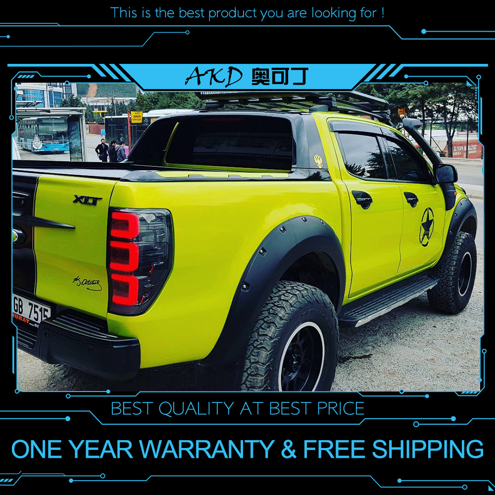 akd tuning cars tail lights for ford ranger 2016 2018. Black Bedroom Furniture Sets. Home Design Ideas