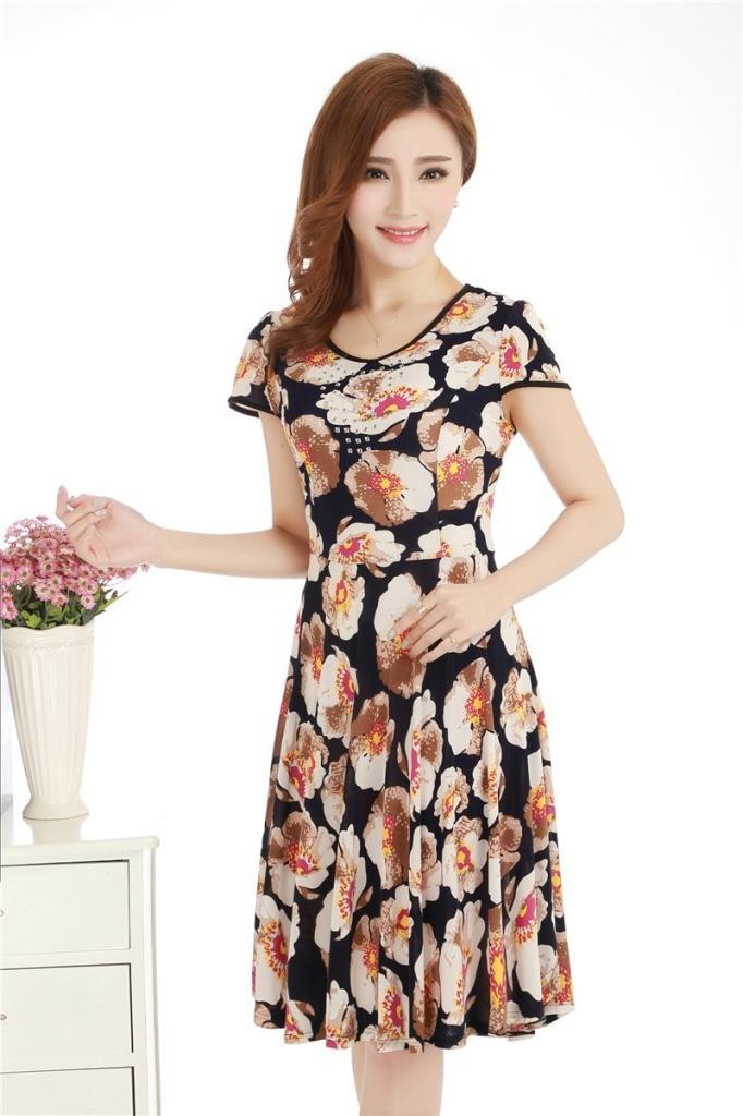 Aliexpress.com : Buy 2015 Women Summer Dresses Women Floral Print ...