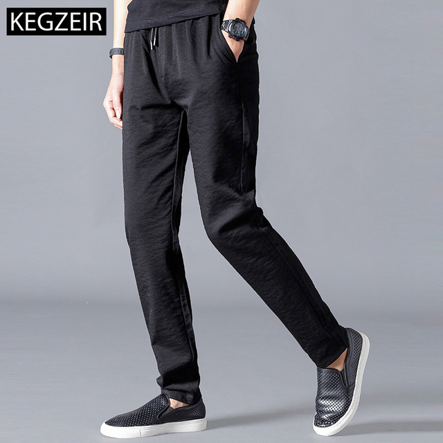 KEGZEIR Spring Winter Stretch MensSweatpants Joggers Slim Fit Mens Trousers Casual Fashion Sports Pants Male Pantalon De Hombre