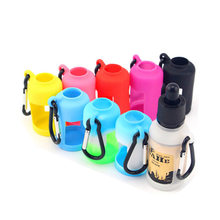 50pcs 15ml liquid bottle holder e juice bottle case enclosure cover sleeve glass bottle plastic bottle 15ml silicone case(China)