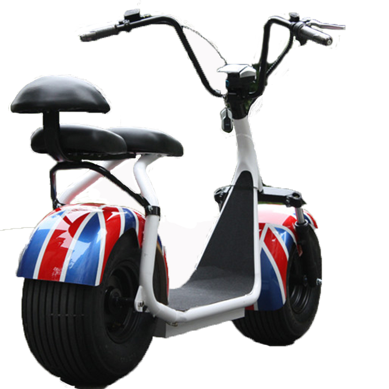 Citycoco font b Electric b font Scooter New 1000W 2 Wheel Powerful Lithium Battery Double Seat