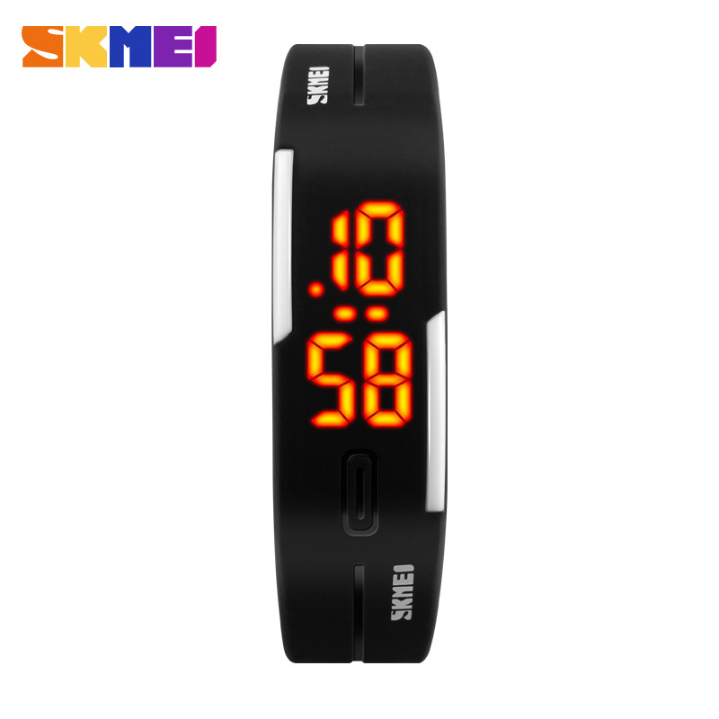 цена на 2017 New Famous SKMEI Brand Simple Watch Girl Jelly Silicone Digital LED Sports Bracelet Wrist Watch Fashion Women Men Watches