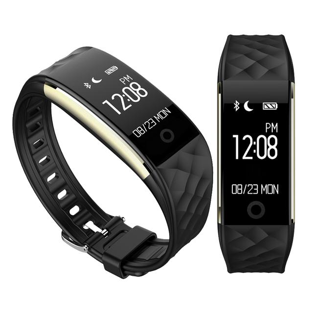 Inteligente Bluetooth Podómetro Pulsera Smartband Heart Rate Monitor Inteligente de Banda para xiaomi meizu mx xaomi mi banda 2 miband2 id107 F1
