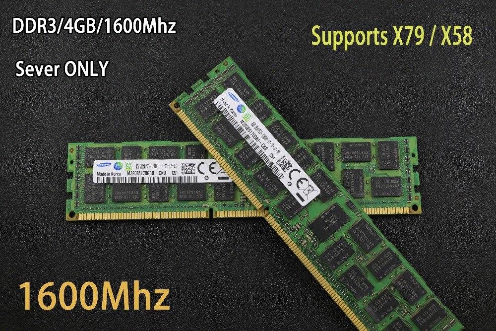 Original Samsung 4 GB DDR3 1333 MHz 1600 MHz 1866 MHz 8g 1333 1600 1866 ECC REG memoria del servidor RAM 16 GB 24 GB 16G 24g 32 GB 32G X79 X58