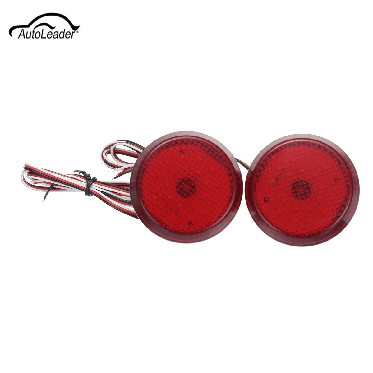 2pcs Car LED Red Rear Bumper Reflector Brake Stop Light For Toyota/Sienna/Corolla For Scion xB iQ 2pcs led number license plate light 12v smd led lamp car styling for toyota corolla auris alphard sienna wish scion xb xd urban