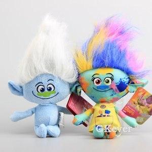 Высокое качество, 6 шт./партия, Тролли, плюшевые игрушки, волшебные волосы, Cooper Poppy DJ Suki Harper Guy Diamond, мягкие куклы, подарок для детей 25-28 см