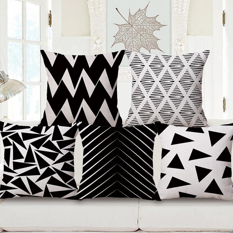 ᐂТворческий Геометрическая Черный и белый серии одна сторона печать ... 740de48d025