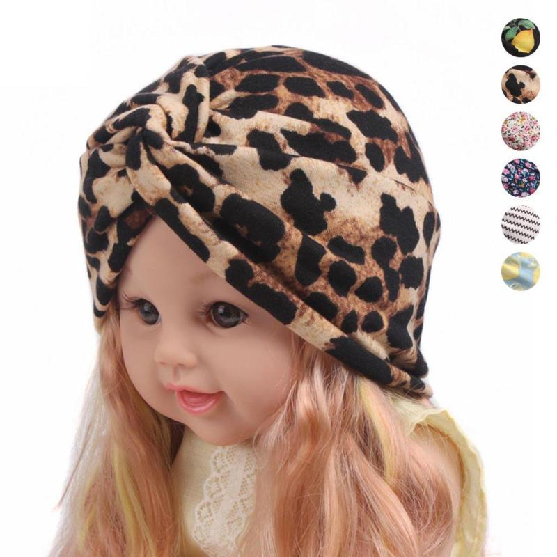 Children cotton hat Floral girls Caps Beanies Soft Toddler Kids lemon pattern warm Hat Cap Beanies Accessories photo props D2