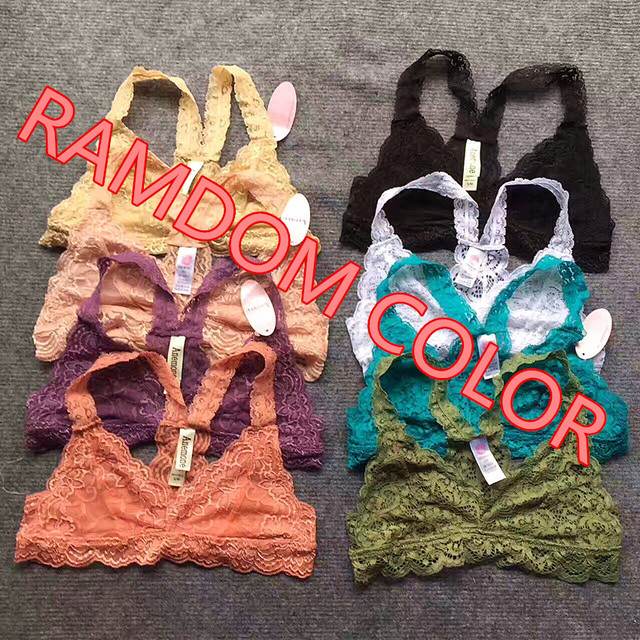 02309596cff03 3Pcs Pack Women fashion Full Lace Bra Crop Top Tank Camisole Bandeau Sexy  Non-padded Bra Wire Free Mesh Lining H253