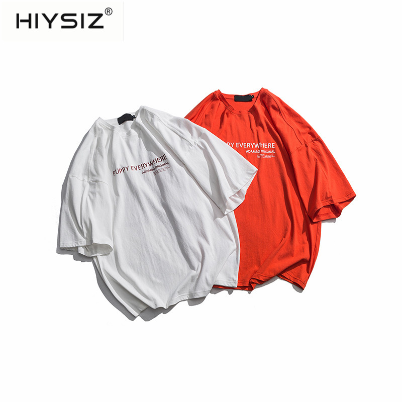 HIYSIZ 2019 Streetwear HIP HOP tshirt Harajuku Casual Men t shirt Summer Japanese Style T-shirts For couple Tops ST561