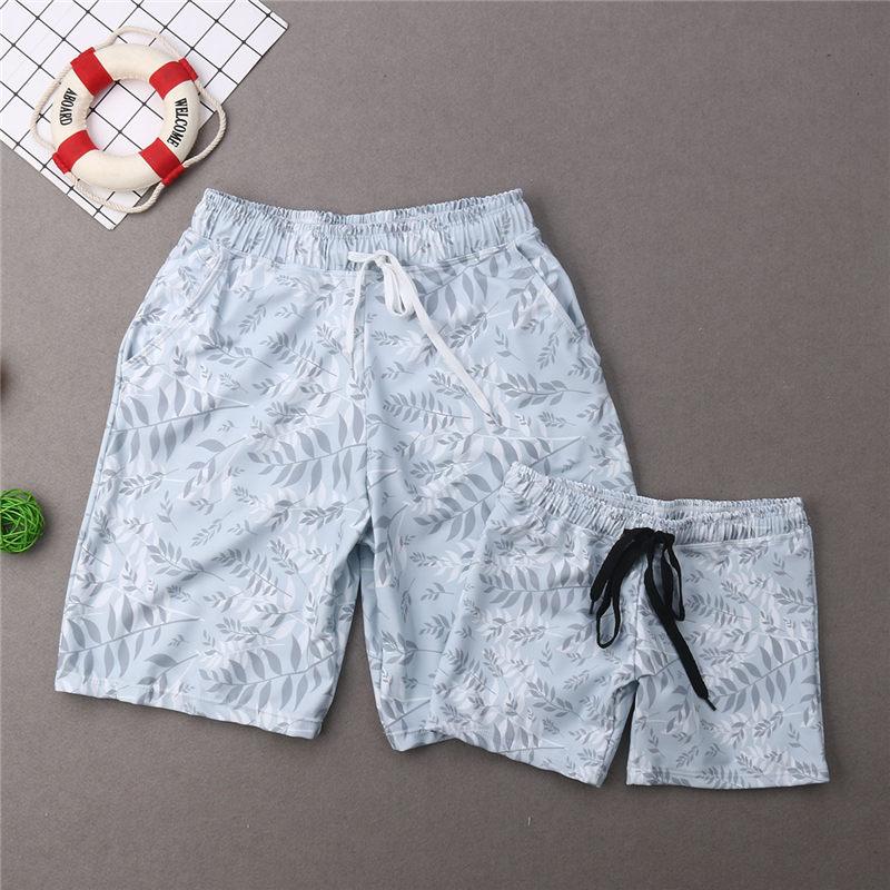 Swimwear Beachwear Bathing-Suit Bikini Boys Trunks Kids Women Summer Girls HALTER Family