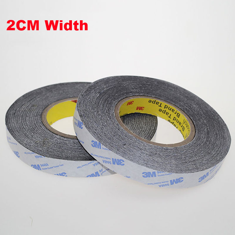 1 Meter 20mm Width 3M9448A Double Coated Tissue Tape Thermally Conductive Adhesive thermal pad for heat sink heatsink radiator synthetic graphite cooling film paste 300mm 300mm 0 025mm high thermal conductivity heat sink flat cpu phone led memory router
