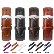 New High Quality Genuine Leather Watch Band For Men And Women 12mm 14mm 16mm 18mm 20mm 22mm Watch Strap Bracelet Watch Belt цена и фото