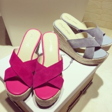 Genuine Leather Summer Wedges Sandales Pour Femmes 2016 Sweet Sandalias Mujer Plataforma Shoes Women Cross Strap Small 30-33