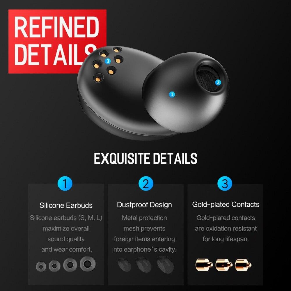 848b2645d34 Rockspace TWS Hifi Bluetooth Earphones V4.2 Earbuds Wireless Stereo Sport Earphone  Headset With Charging Box For Apple Xiaomi-in Bluetooth Earphones ...
