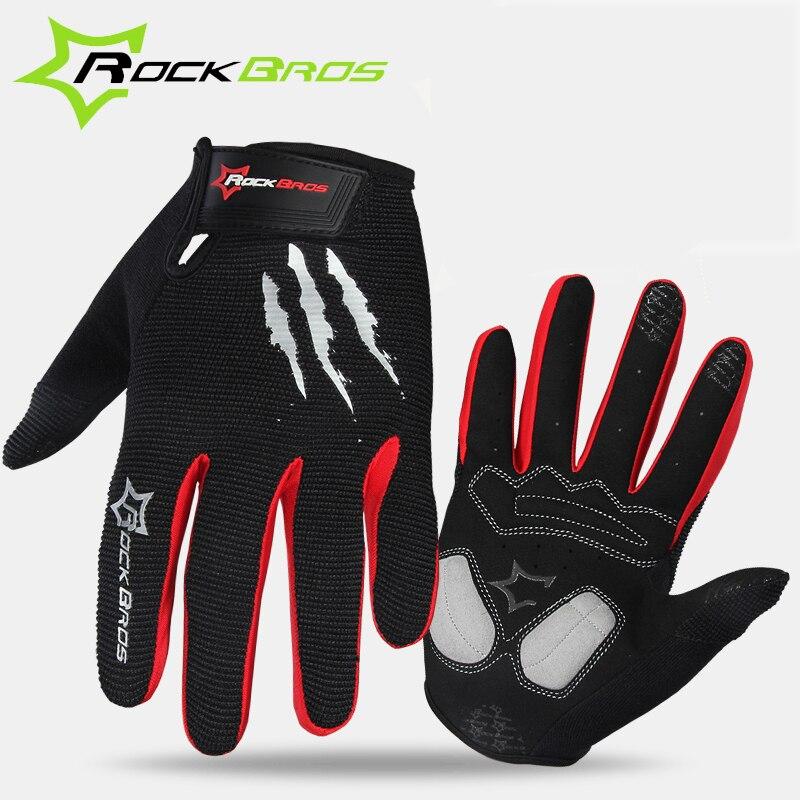 RockBros font b Cycling b font font b Gloves b font Sponge Pad Long Finger Motorcycle