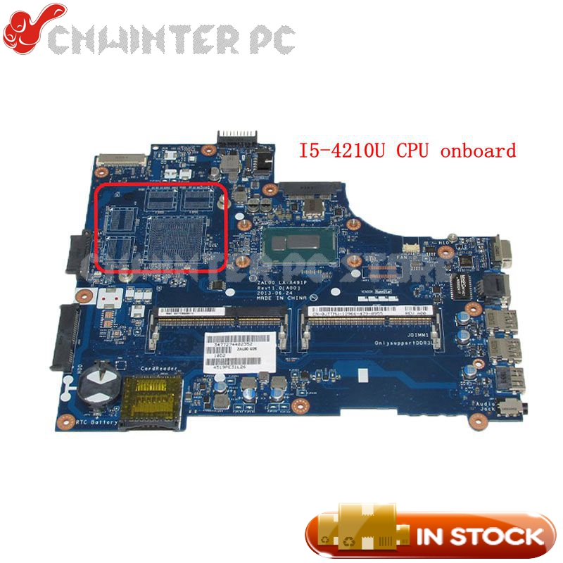 NOKOTION ZAL00 LA-A491P CN-0JTTMW 0JTTMW Laptop Motherboard For <font><b>Dell</b></font> Latitude <font><b>3540</b></font> Main Board SR1EF I5-4210U CPU UMA DDR3L image