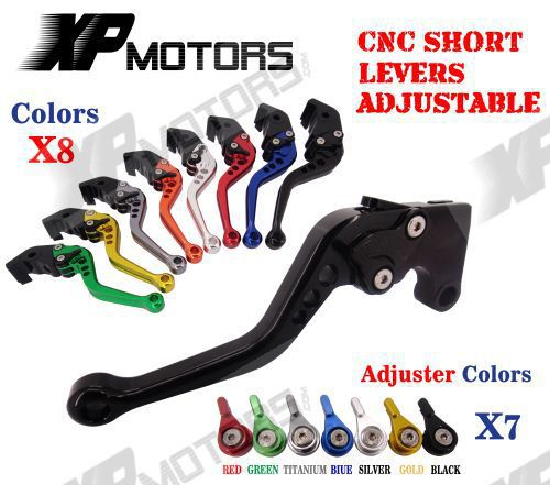 CNC Short Adjustable Brake Clutch Lever For Suzuki RGV250 88-98 SV650S SV650N SV650 S/N 99-10 DL650 V-Strom 04-10 RF600R 93-97 adjustable billet extendable folding brake clutch lever for suzuki dl 650 v storm 04 10 05 06 07 08 sv 650 n s 99 09 00 01 02