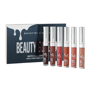 6 unids/set maquillaje profesional lápiz labial líquido brillo labial mate juegos de pintalabios cosmético de larga duración maquiagem