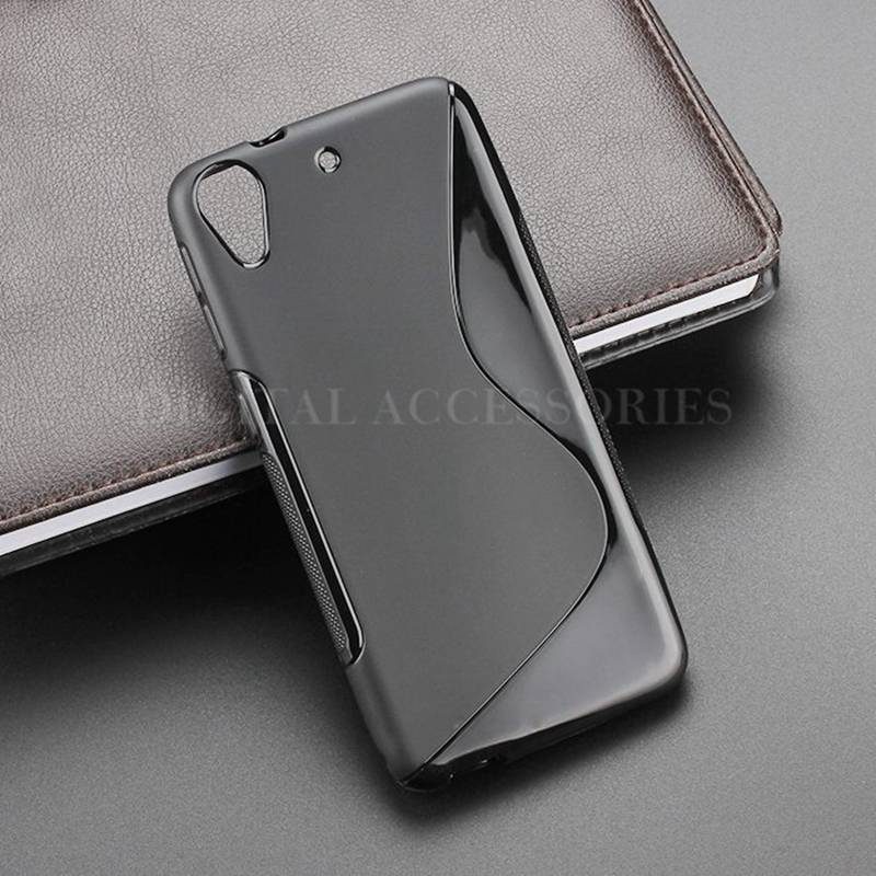 8 Color S-Line Skidding Gel TPU Slim Soft Case Back Cover For HTC Desire 626 626w 626d 626g Mobile Phone Rubber silicone Cases