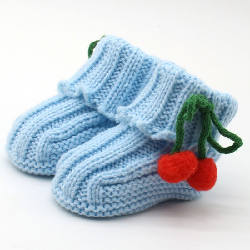 New Hot Infant Toddler Boots Winter Warm Crochet Knit Fleece Bow Snow Shoes Crib Boots Newborn Girls Boys First Walkers Multicol