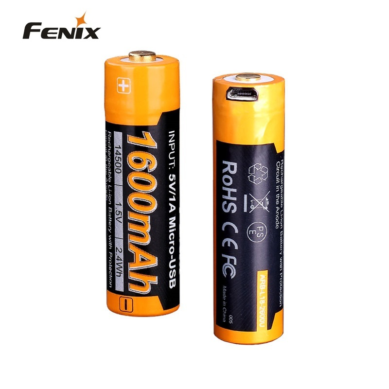 Fenix ARB-L14-1600U Can Be Used As AA Batteries USB Rechargeable 1600mAh Rechargeable Li-ion Battery