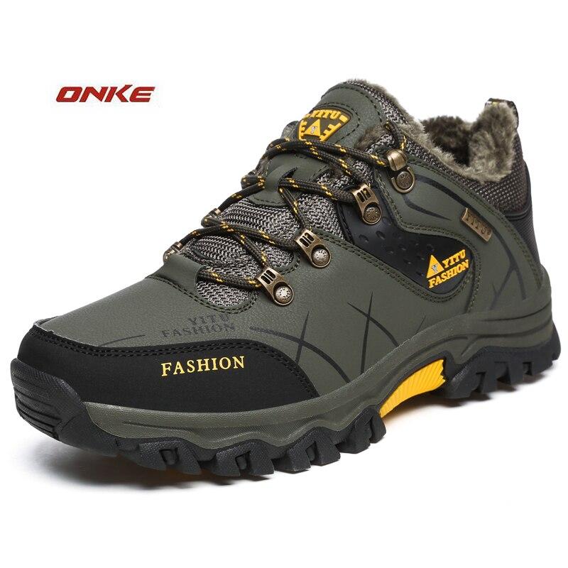 Winter Men's Sneakers With Fur Running Shoes Waterproof Boot