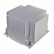 Кулер для процессора сервера 2U, алюминиевый радиатор для Intel 1150 1151 1155 1156 i3 i5 i7, промышленный компьютер с пассивным охлаждением