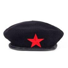 Voron nuevas Top venta mujeres lana caliente boina gorra con la estrella  roja la calle de los hombres de moda invierno sombreros. a23d81b2e02