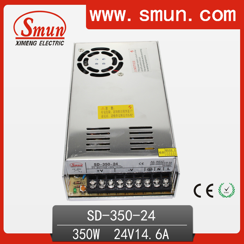 350w 19 36VDC to 24VDC switching power supply DC DC converter with CE ROHS 1 year