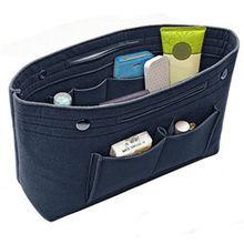 Women Portable Felt Fabric Purse Handbag Organizer Bag Multi