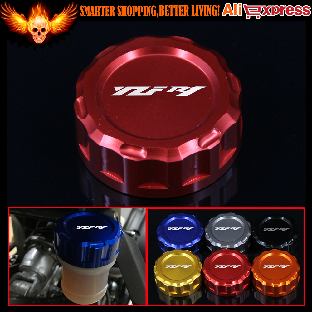 6 Colors CNC Aluminum Motorcycle Rear Brake Reservoir Cover Cap For YAMAHA YZF R1 2009 2010 2011 2012 2013 2014 useful bicycle stem cnc aluminum bike headset cover cap 1 1 8 red