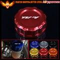 6 cores de alumínio do cnc da motocicleta traseiro brake reservoir cap capa para yamaha yzf r1 2009 2010 2011 2012 2013 2014