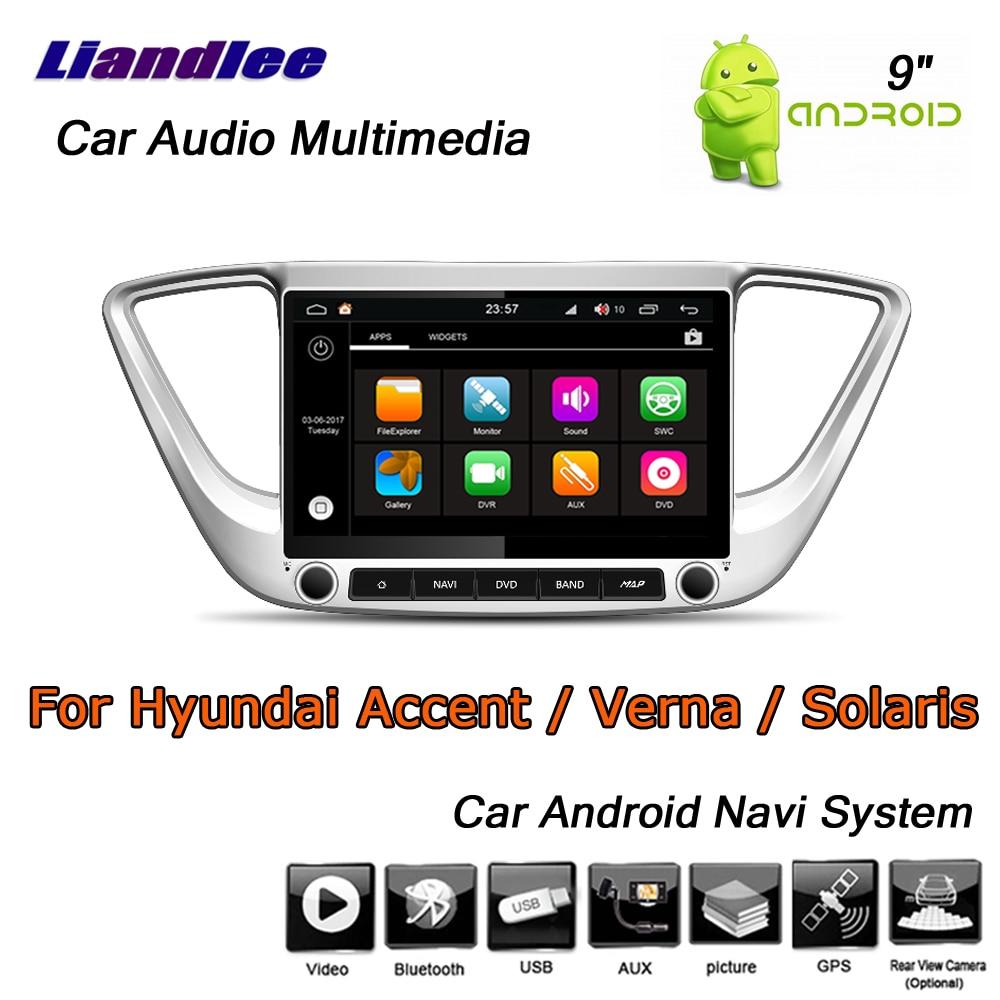 Liandlee Android 8 UP pour Hyundai Accent/Verna/Solaris 2017 ~ 2019 stéréo autoradio GPS carte Navi système de Navigation pas de CD DVD
