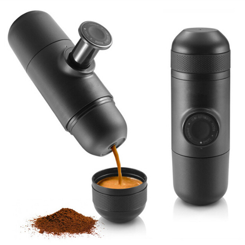 Free shipping Manual Coffee Maker Mini Hand Pressure Portable Espresso Machine outdoor travel sport coffee filter pot