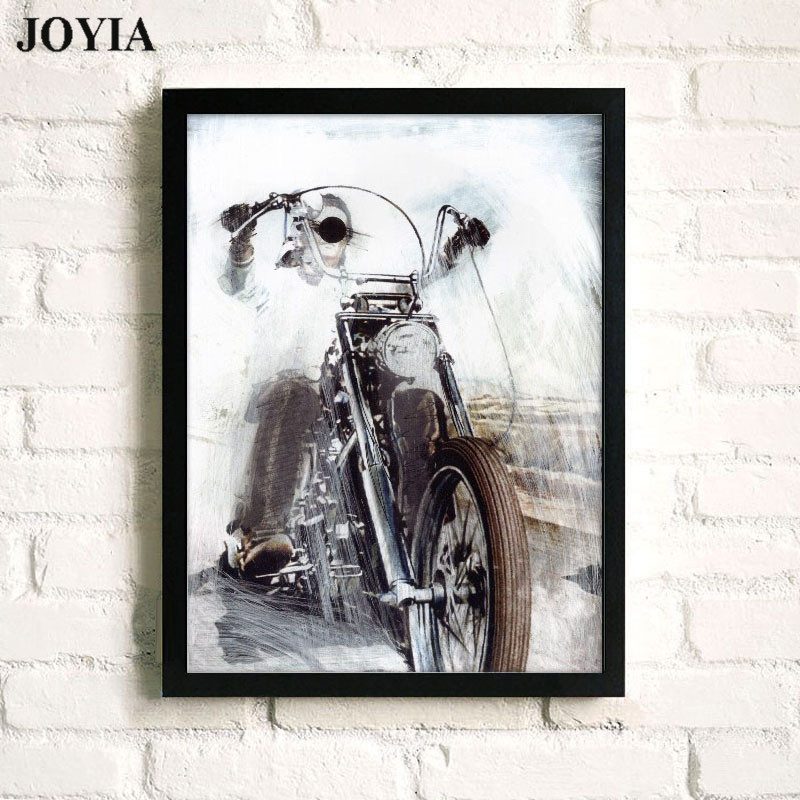 Abstracte motor kunst aan de muur canvas prints schets motorfiets slaapkamer bar decoratieve kunst foto home living office decor posters